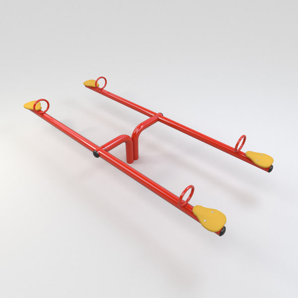 3ds max double seat teeter