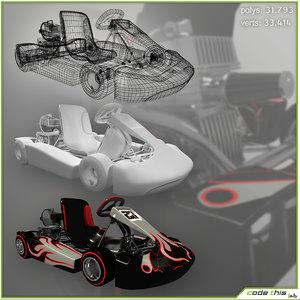 go-kart 3d max