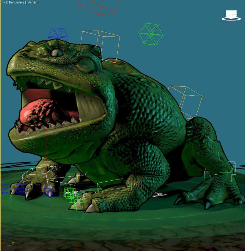 3ds max frog king