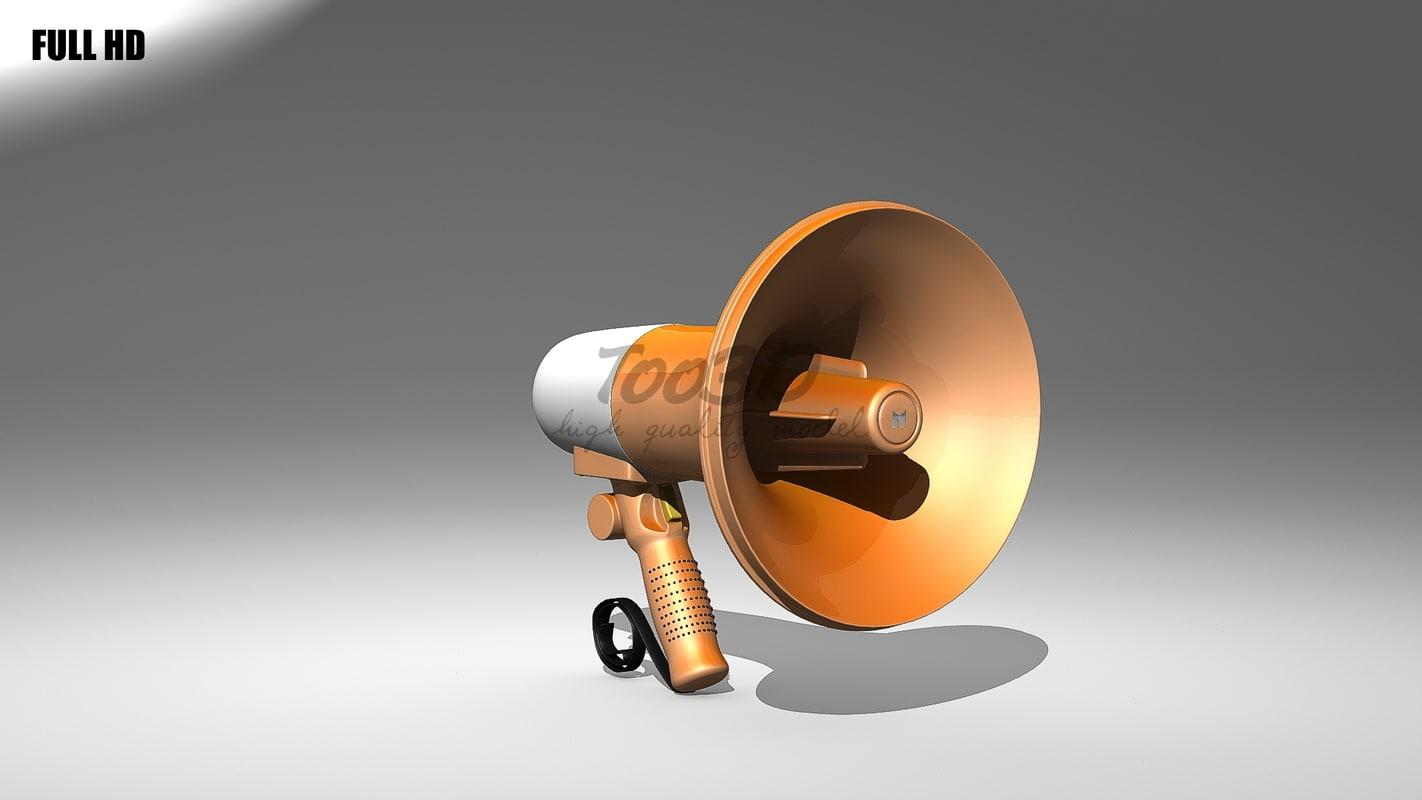 megaphone 3d model