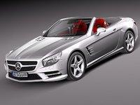 mercedes sl 2013 sport 3d model