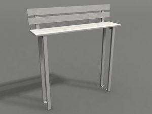 3d model park chair strange benches