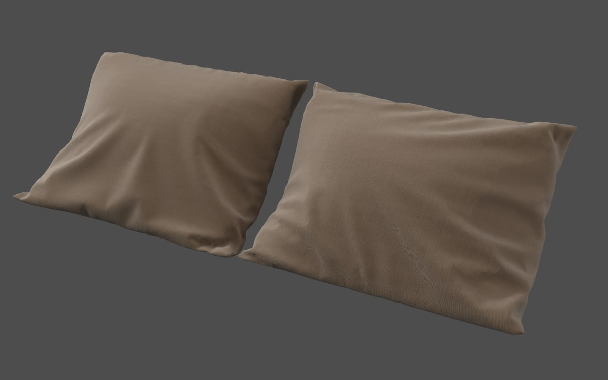 free realistic pillow 3d model