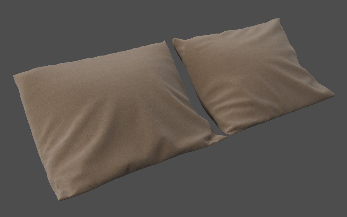 b5c648f7575e90 free realistic pillow 3d model