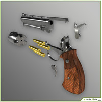 cylinder gun animation 3d model