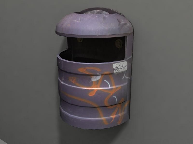 3d model garbage real