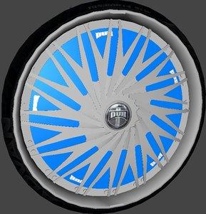 3d model dub rebellion wheel