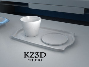 3d sets white serving bowl
