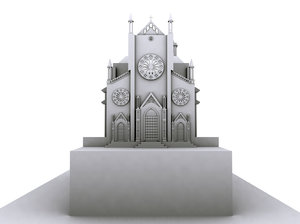 3ds max st anthony church