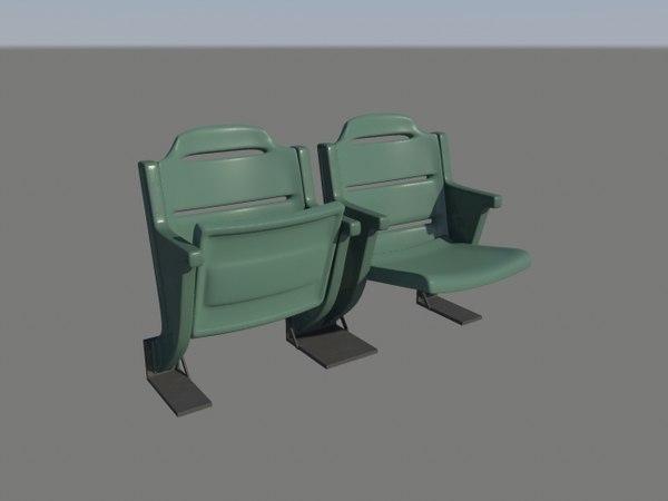 3d model stadium seat