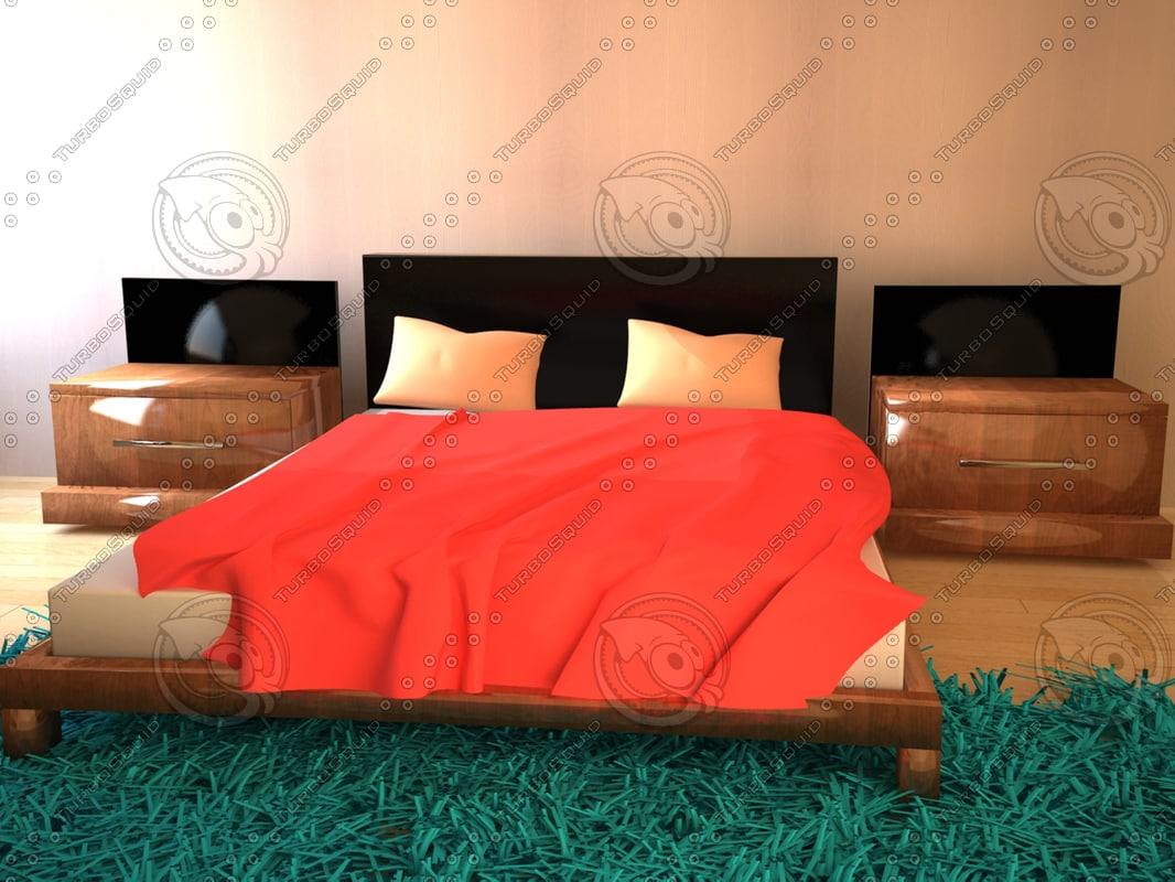 3ds max bedroom