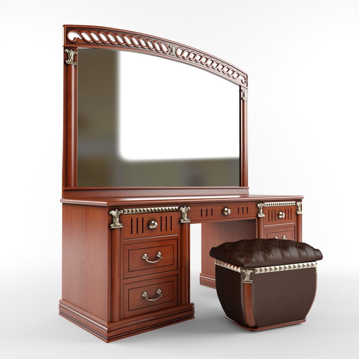 ladies desk dressing table 3d model
