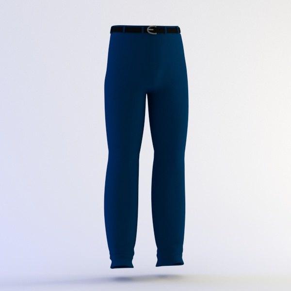 3d pants belt model