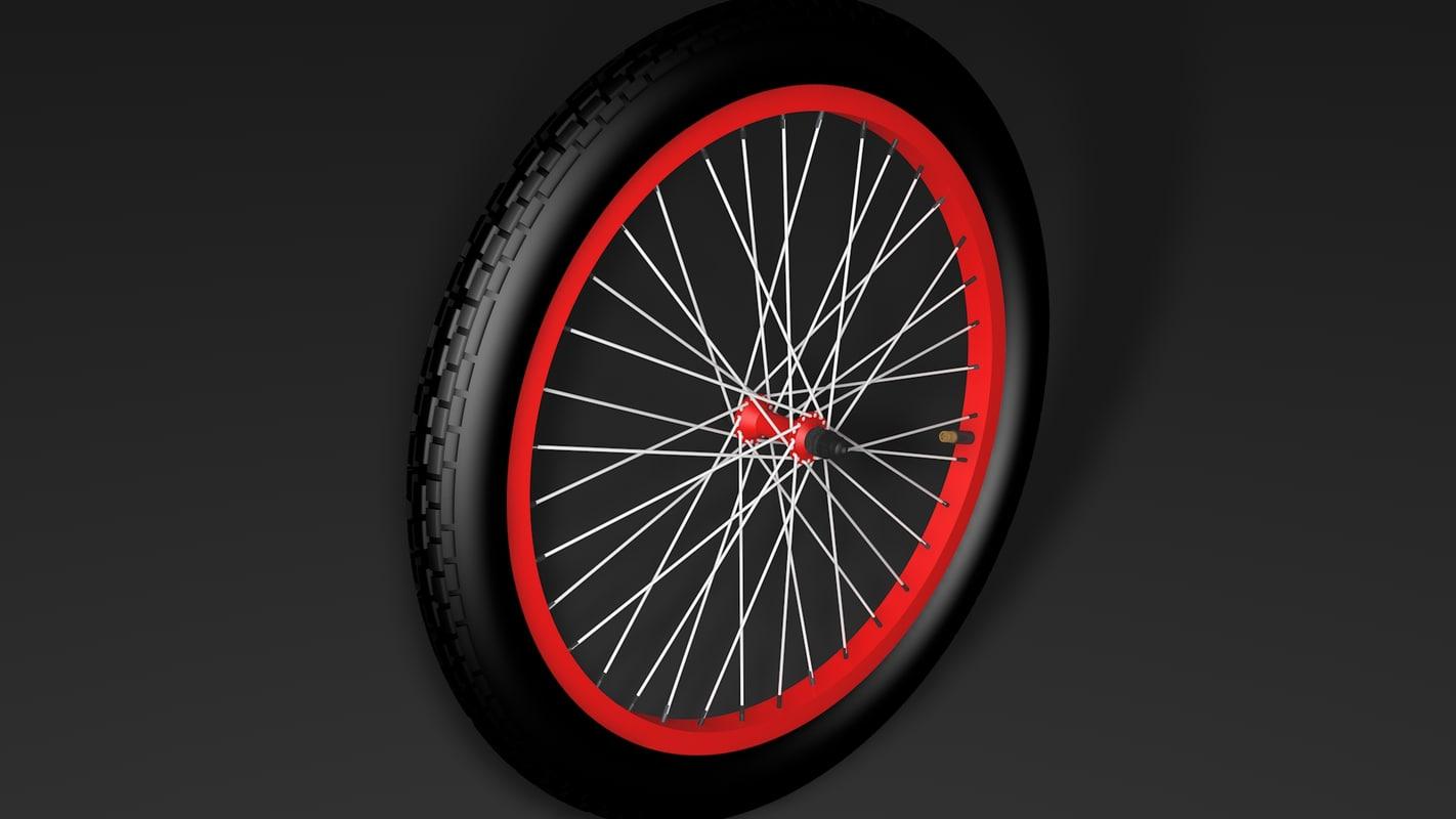 3d bicycle wheel model