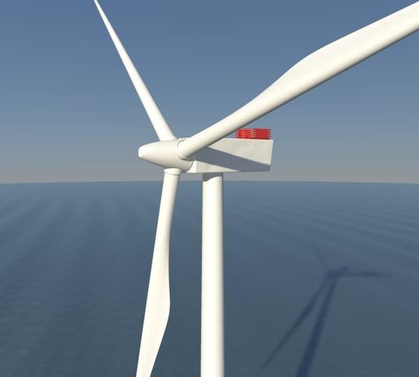 3d model offshore windfarm turbine wind