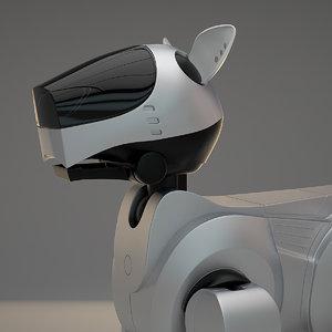 3d sony aibo robot