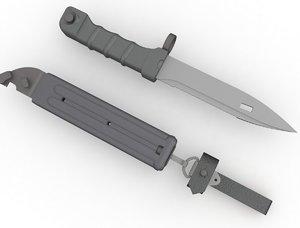 ak74 bayonet 3d model