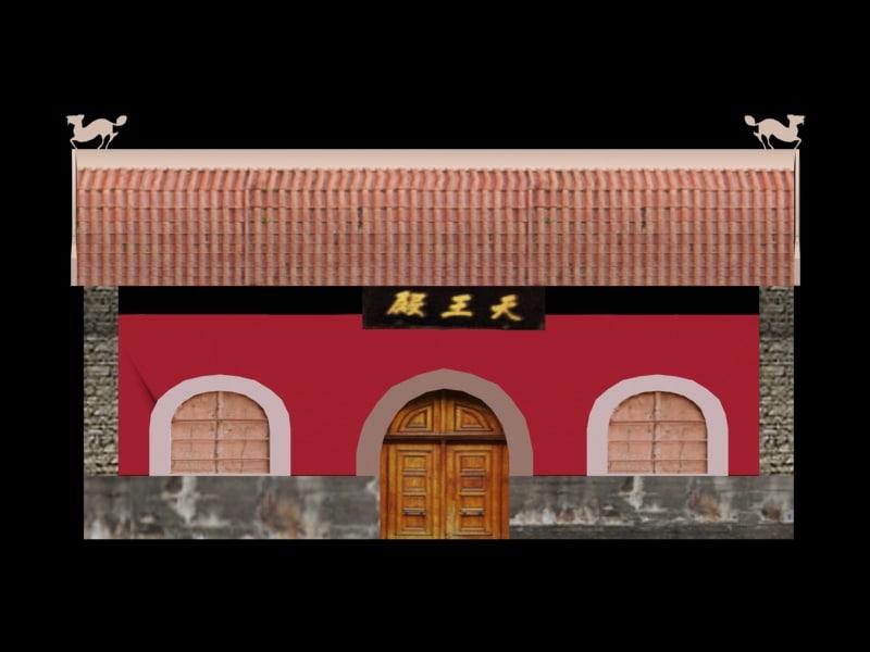 3d buddhist china model