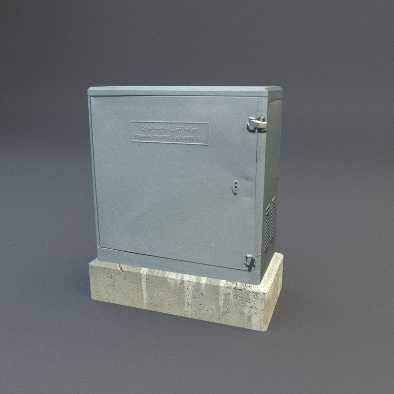 traffic box 3d model