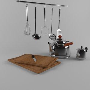 3d model of cookware cook