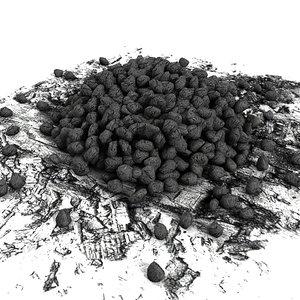 coal pile 3d model