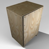 small wooden crate 3d model