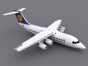3d max bae 146-200 avro rj85