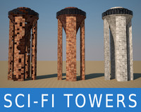 free 3ds mode sci fi towers