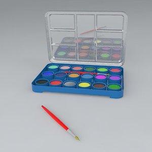 3d water color set