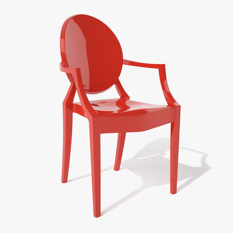 3d model louis ghost armchair kartell