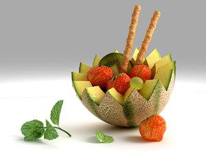 cocktail fruit 3d max