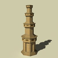 3d model of castle persian