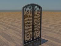 iron doors 3d model
