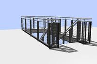 3d stairway office