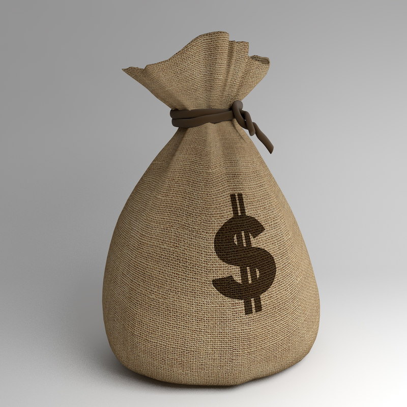 3ds sack money modelled