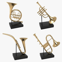 object musical instrument decoration 3d model