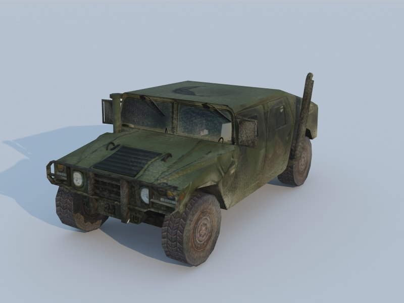 3d max hummer h1 military