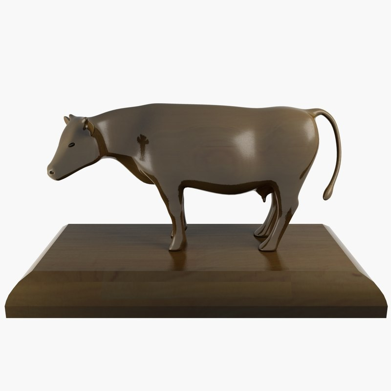 3d cow ornament model