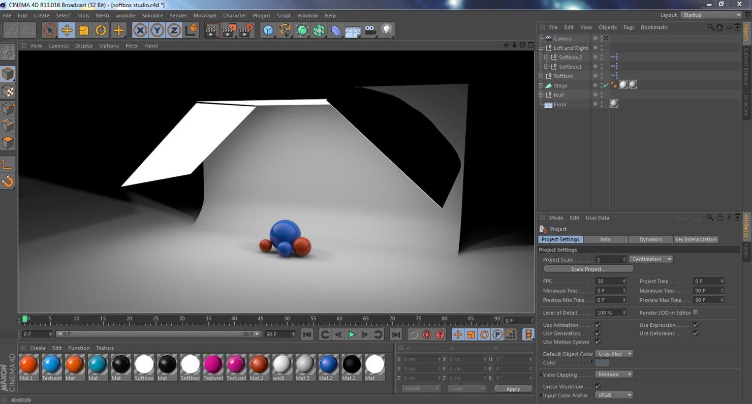 softbox studio c4d
