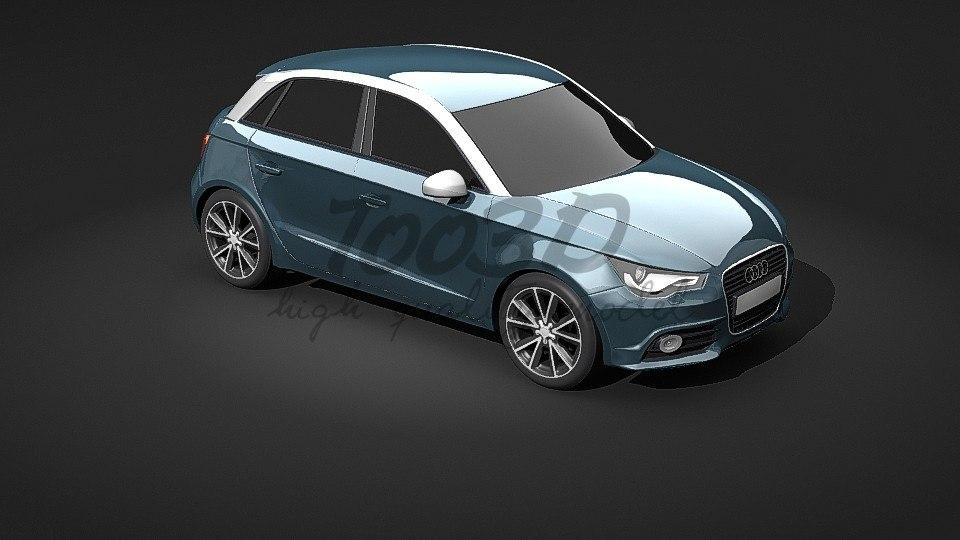 a1 sportback five-door 3d max