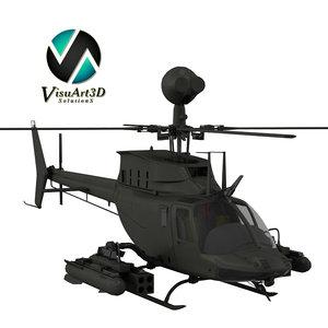 3d bell oh-58 kiowa warrior model
