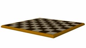 chess board obj free
