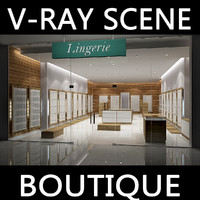 3d model of v-ray scene boutique lingerie
