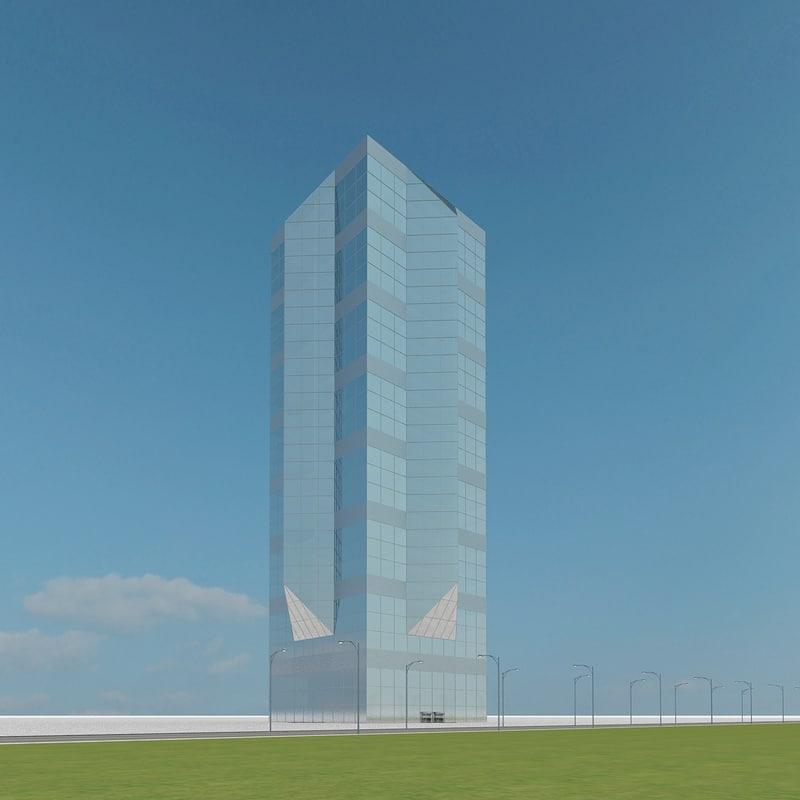 new skyscraper 69 3d max