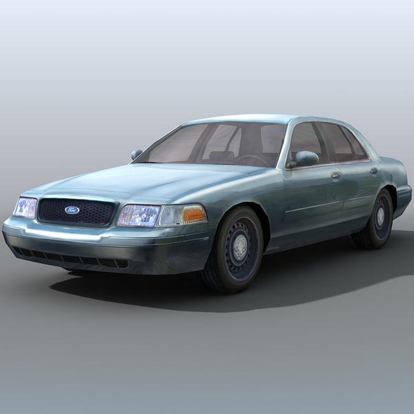 3d model city sedan car crown