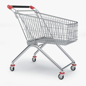 3d model shopping cart