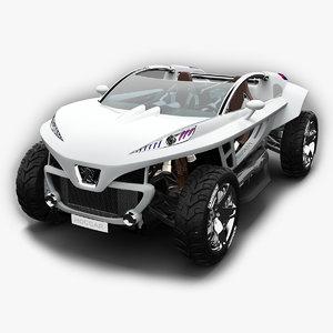 3dsmax concept car peugeot hoggar