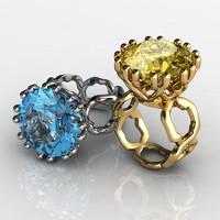 stl coral ring 3d model