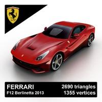 3d 2013 ferrari f12 berlinetta