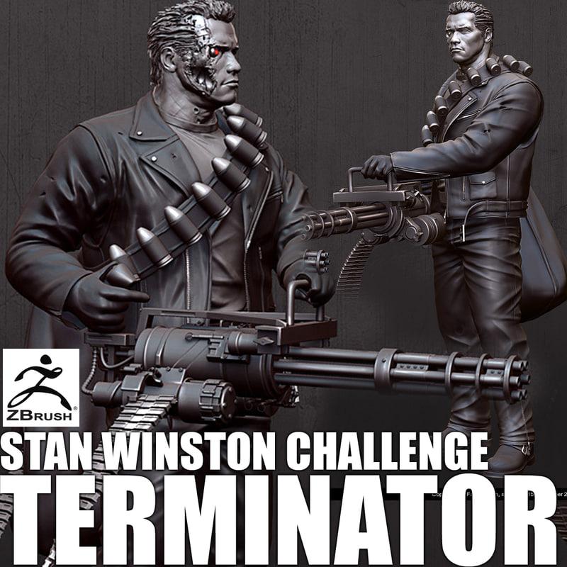 3d model terminator arnold schwarzenegger